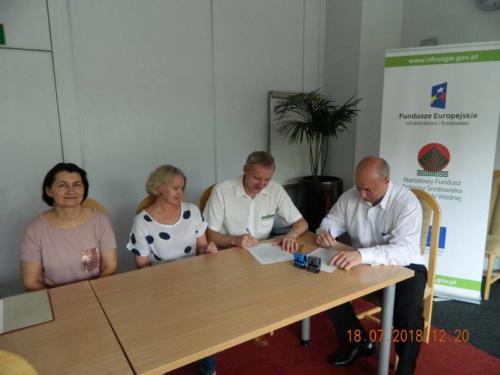 Podpisanie deklaracji wekslowej w Narodowym Funduszu Ochrony Środowiska i Gospodarki Wodnej w Warszawie – 18 lipiec 2018r.